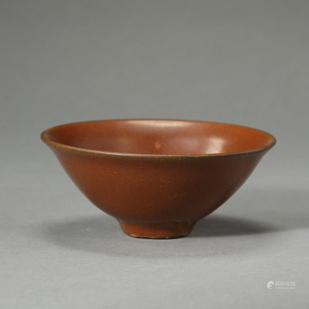 SONG DYNASTY, CHINESE RED YAOZHOU KILN CUP