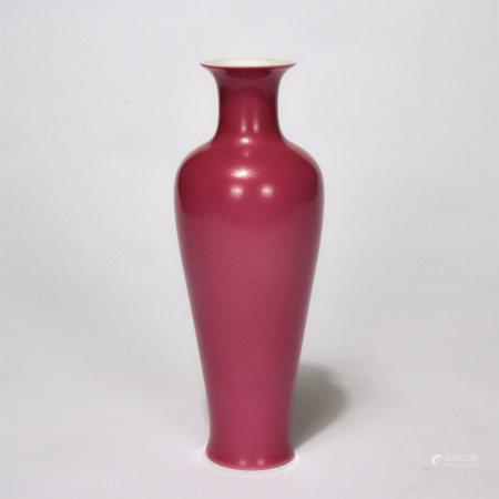 Chinese Carmine Glaze Porcelain Vase