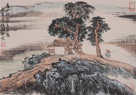 Chinese Hanging Scroll Painting Of Figure Story