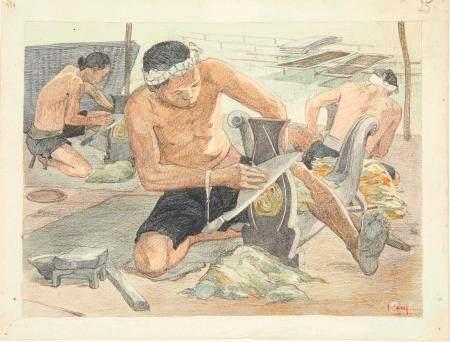 VIETNAM, Ecole de Gia Dinh, de 1926 à 1940  Nguyen Van Kiem, promo 1934.  Industrie du tabac. C