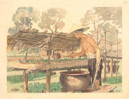 VIETNAM, Ecole de Gia Dinh, de 1926 à 1940  Nguyen Van Kiem, promo 1934.  Industrie du tabac. A