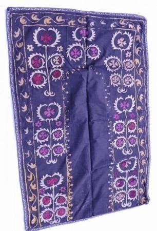 Suzani, soie sur coton, environ 100 ans, environ 129x85cm