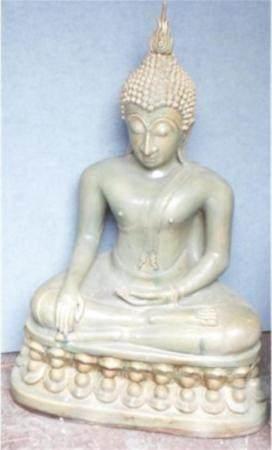 Bouddha assis,Majolique,Sukotay,Thaïlande centrale,env.70-80 ans,H:env.81cm
