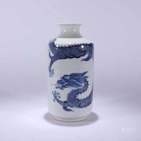 清代 青花云龙纹瓶