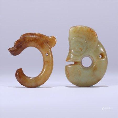 红山文化 玉龙一组(2个)