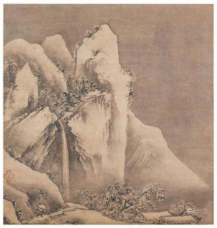Seal of Kano Motonobu 狩野元信 (1477-1559) Snow Landscape Muromachi Period (1333-1573), early/mid-16th century (11)