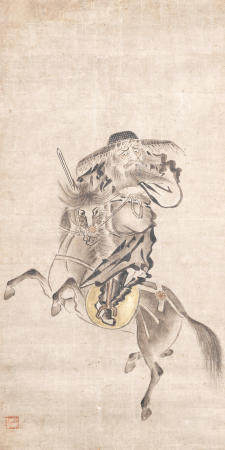 Artist Unknown 作者不詳 Shōki on a Horse Muromachi period (1333-1573), early/mid-16th century (2)