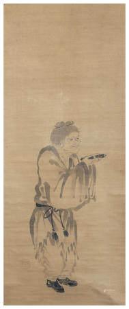 Artist Unknown 作者不詳 Daruma, Kanzan and Jittoku Muromachi (1333-1573) or Momoyama (1572-1615) period, late 16th/early 17th century (6)