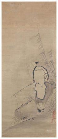Attributed to Kaihō Yushō 海北友松 (1533-1615) Taikōbō Momoyama period (1573-1615), late 16th/early 17th century (2)