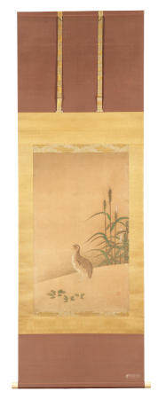 Attributed to Unkoku Tōyo 雲谷等與 (1612-1668) Quail and Barley Edo period (1615-1868), mid-17th century (2)