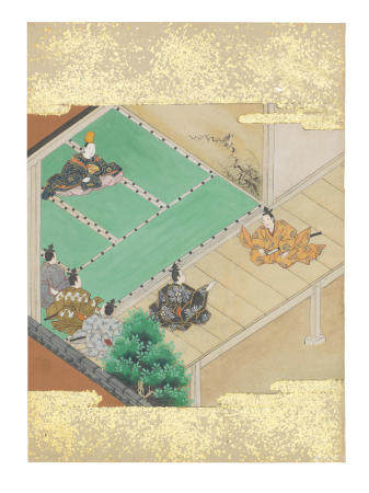 Artist Unknown, Nara-Ehon style Section from a Set of Illustrations to Soga monogatari (The Tale of the Soga Brothers): Book 1 Chapter 5, Suketsune argues his case before the magistrate Edo period (1615-1868), late 17th century