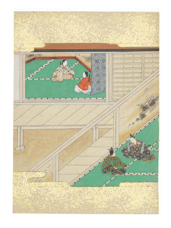 Artist Unknown, Nara-Ehon style Section from a Set of Illustrations to  Soga monogatari (The Tale of the Soga Brothers): Book 3 Chapter 5, Kagesue could do nothing but withdraw and return home   Edo period (1615-1868), late 17th century