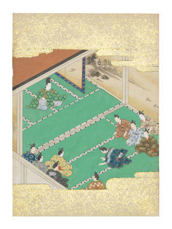 Artist Unknown, Nara-Ehon style Section from a Set of Illustrations to  Soga monogatari (The Tale of the Soga Brothers): Book 5 Chapter 1, Yoritomo proposes a hunt on the Asama plain Edo period (1615-1868), late 17th century