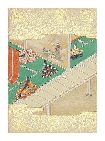 Artist Unknown, Nara-Ehon style Section from a Set of Illustrations to  Soga monogatari (The Tale of the Soga Brothers): Book 9 Chapter 1, Gorō and Jūrō visit Yoshimori Edo period (1615-1868), late 17th century