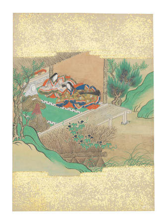 Artist Unknown, Nara-Ehon style Section from a Set of Illustrations to  Soga monogatari (The Tale of the Soga Brothers): Book 12 Chapter 8, Tora ushers in the visitors Edo period (1615-1868), late 17th century