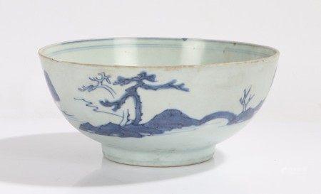 Nanking cargo bowl, with landscape decoration, Christie's label to base, 16.5cm diameter