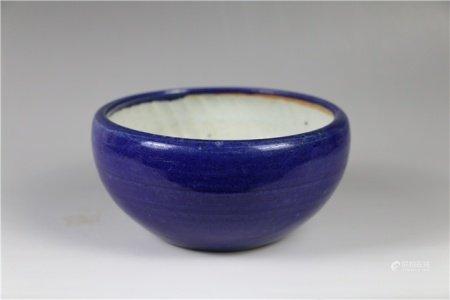Glazed glazed pot furnace 霁蓝釉钵式炉
