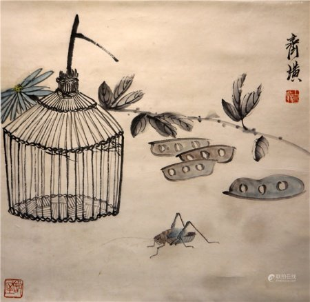 Chinese calligraphy and painting cordyceps sinensis 中国字画 虫草