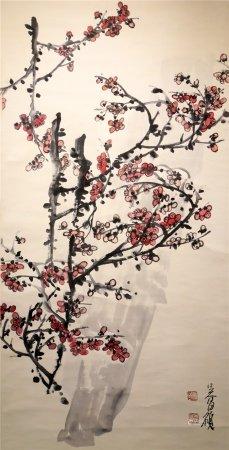 Chinese calligraphy and painting plum blossom 中国字画 梅花
