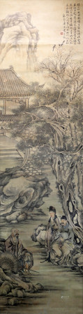 Chinese calligraphy and paintings adorn the branches 中国字画 喜上枝头