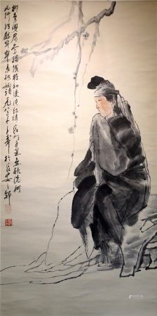 Chinese characters on paper 中国字画 纸本人物