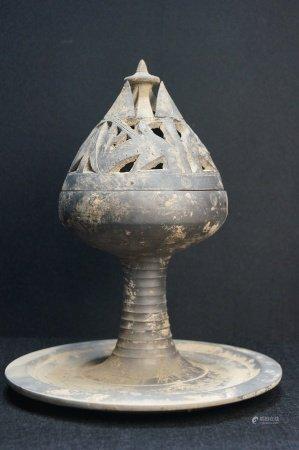 Black pottery furnace 黑陶薰炉