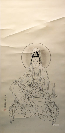 Chinese painting and calligraphy 中国字画 观音像