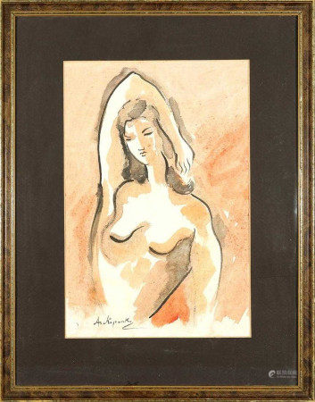RUSSIAN WATER OF NUDE ARCHIPENKO