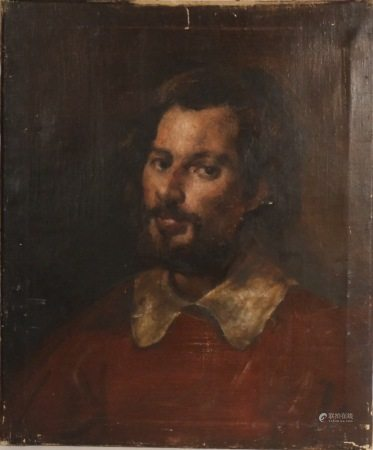 PORTRAIT OF A MALE 19TH.C, OIL ON CANVAS