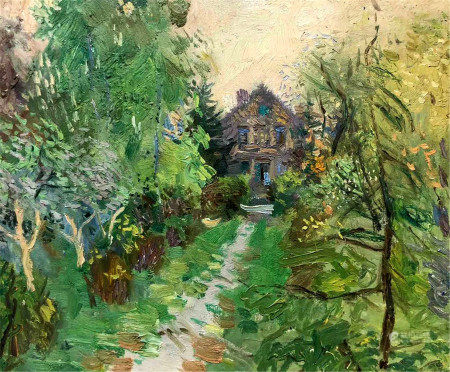 Oil painting House in the woods Zaretskyi Viktor
