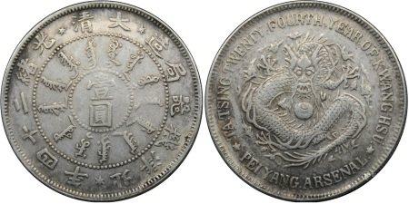 光绪二十四年北洋机器局造壹圆银币