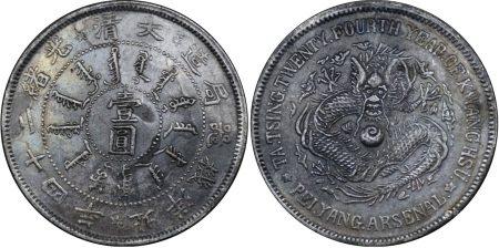 大清光绪二十四年北洋机器局造壹圆银币