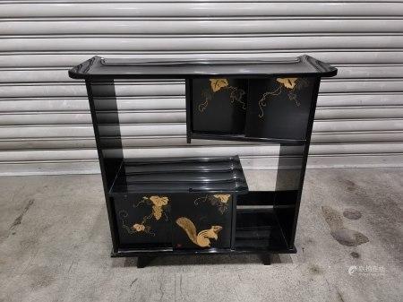 蒔繪松鼠葡萄大漆茶櫃