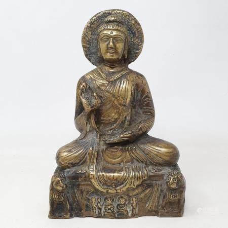 A Burmese bronze Buddha, 22 cm
