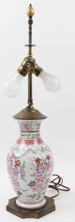 Japanese Porcelain Table Lamp