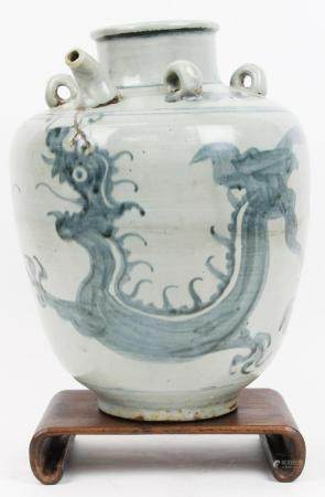 Chinese Ming Dynasty Blue and White Jar