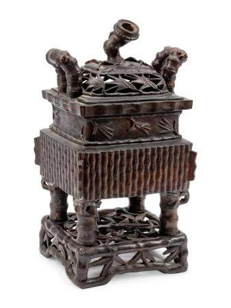 A Chinese Export Bronze Censer