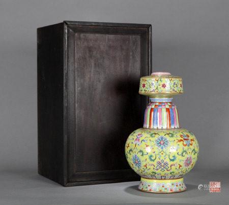 Famille Rose Bumpa Qing Dynasty