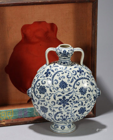 Blue And White Bianhu Yongle Style