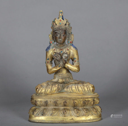 Bronze Gilt Vajradhara Qing Dynasty
