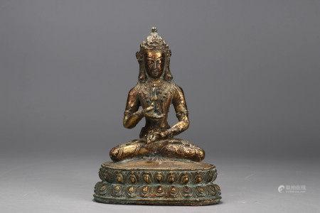Bronze gilt vajradhara