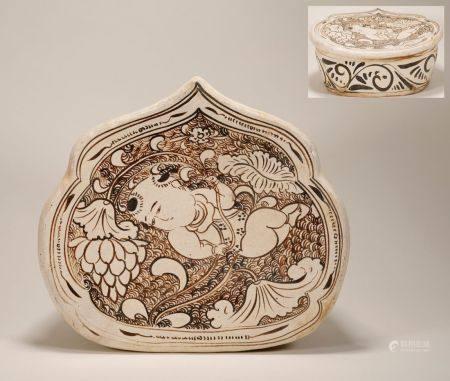 Song Dynasty - Cizhou Ware Lotus Pattern Pillow