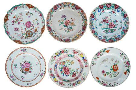 COLLECTION OF CHINESE EXPORT PORCELAIN PLATES