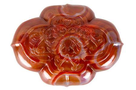 CHINESE CARVED CARNELIAN BOX
