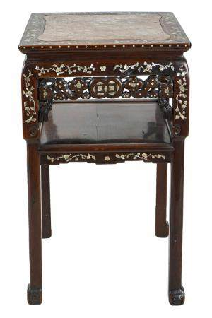 CHINESE INSET TIERED STAND