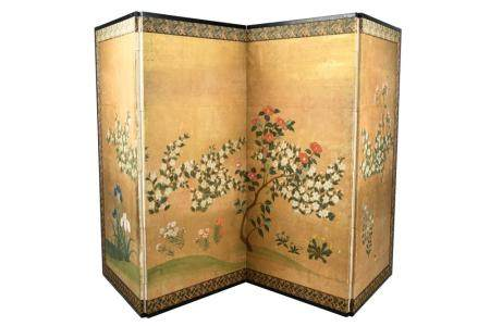 CHINESE FOUR PANEL PAPER SCREEN