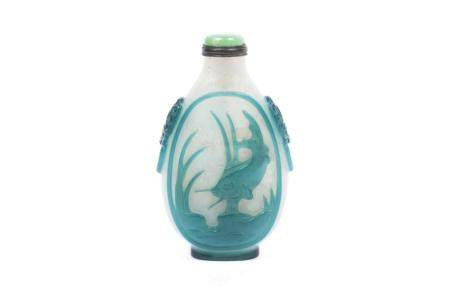 CAMEO GLASS SNUFF BOTTLE