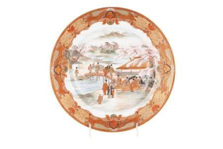 JAPANESE SATSUMA PLATE IN THE MANNER OF YABU MEIZAN