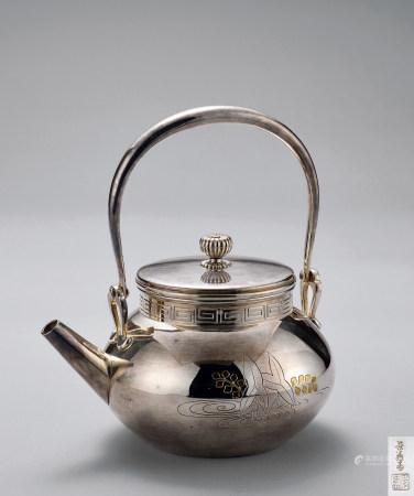 长翁斋秀寿造纯银汤沸