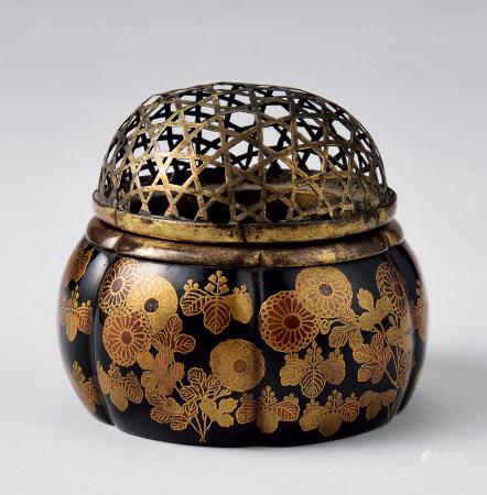 江户时期菊桐莳绘香炉